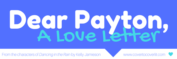 Dancing in the Rain by Kelly Jamieson love letter banner Cover to Cover book blog