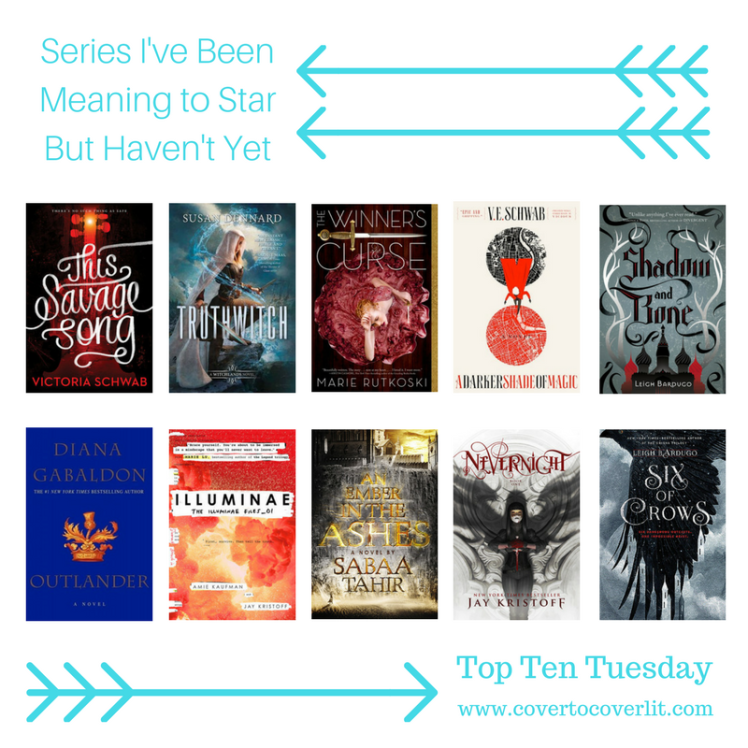 Top Ten Tuesday Series I've Been Meaning To Start But Haven't Hosted by the Broke and the Bookish on Cover to Cover Book and Blogging Blog by Kat Snark