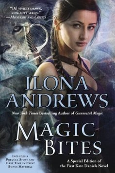 Magic Bites by Ilona Andrews on Cover to Cover Book and Blogging Blog by Kat Snark Kate Daniels Magic Urban Fantasy Paranormal Romance Sword Fierce Female Vampire shifter changeling slow burn romance
