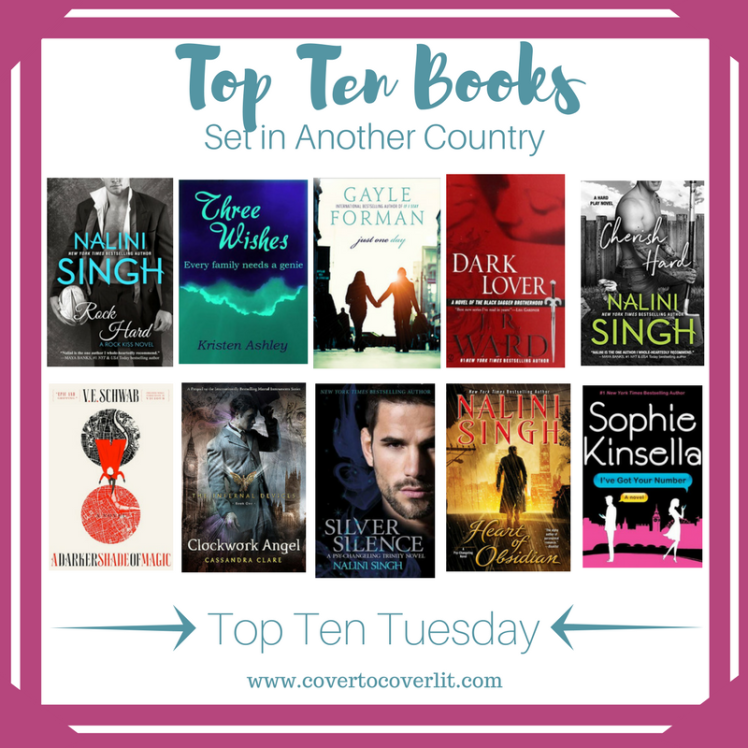 Top Ten Tuesday That Artsy Reader Girl Top Ten Books Set in Another Country Book Reading Cover to Cover Book and Blogging Blog by Kat Snark