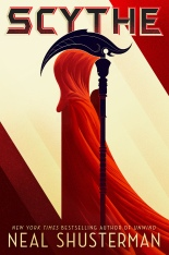 Cover to Cover Book Blog Kat snark reviews discussions book blogger book dragon reading reader recommendations five star reads Review Scythe by Neal Shusterman dystopian utopian