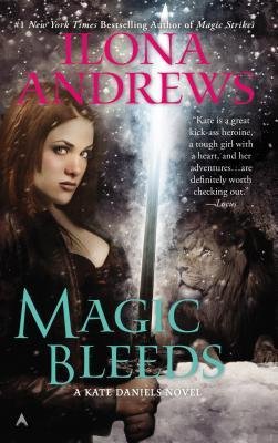 Curran Julie Magic Bleeds by Ilona Andrews on Cover to Cover Book and Blogging Blog by Kat Snark Kate Daniels Magic Urban Fantasy Paranormal Romance Sword Fierce Female Vampire shifter changeling slow burn romance